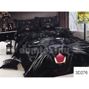 Čierne bavlnené posteľné obliečky  s pumou