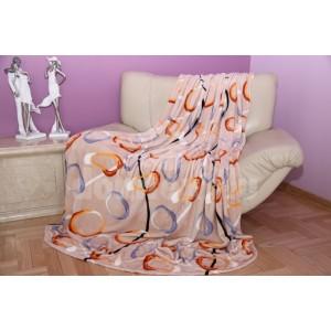 Béžová deka s motívom kruhov