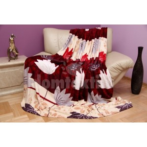 Španielska deka béžovo-bordová