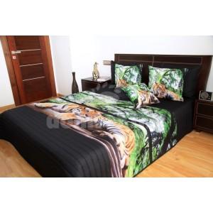 Čierno zelené prehozy s motívom tigra
