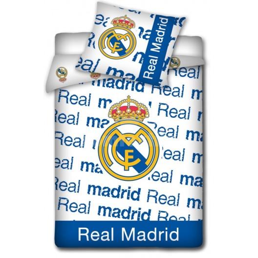 Detské obliečky bielo modrej farby motív Real Madrid