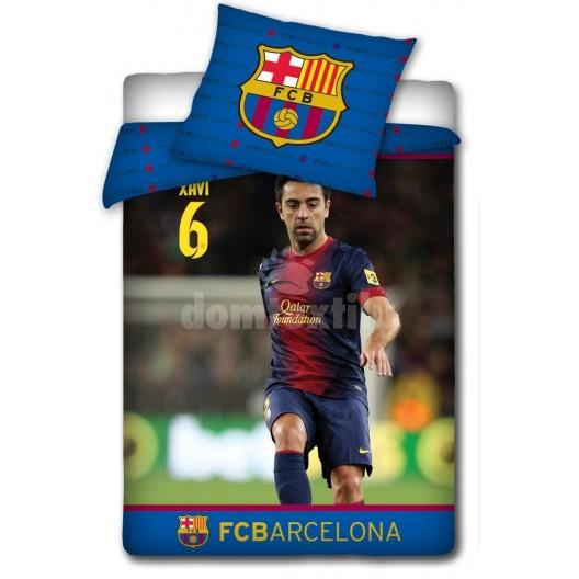 Modré obliečky na detskú posteľ s futbalistom FC Barcelona