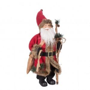 Vysoká dekoračná vianočná figúrka Mikuláša s čarovnou paličkou 60 cm