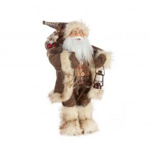 Úžasná vianočná dekoračná figúrka Santa Clausa s lampášom 45 cm