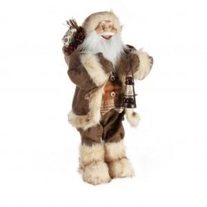 Veľká ozdobná vianočná figúrka Mikuláša s lampášom 60 cm