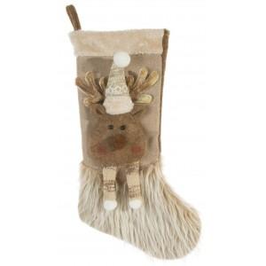 Vianočná dekoračná ozdoba mikulášska čižma s motívom soba