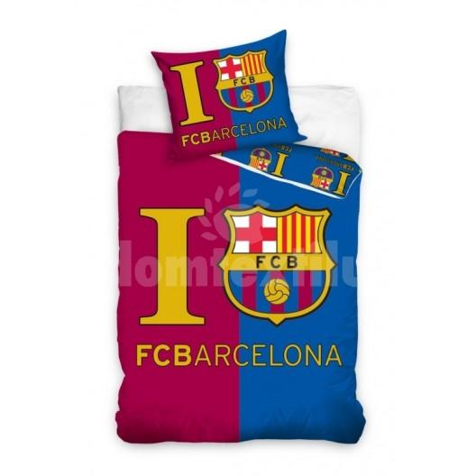 Bordovo modrá obliečka na detskú posteľ FCB