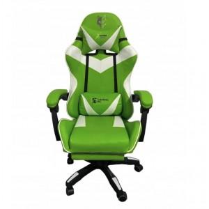 Pohodlné kvalitné hracie kreslo v bielo zelenej farbe