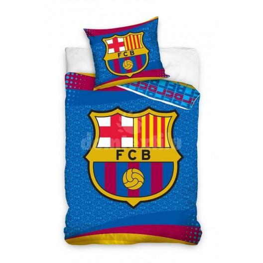 FCB detská obliečka na posteľ modrej farby