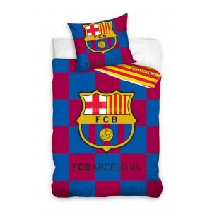 Červeno modré obliečky na posteľ pre deti s motívom FCB