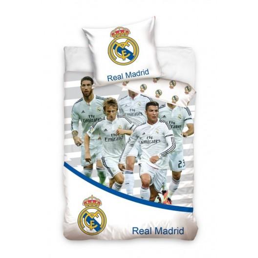 Detská posteľná obliečka biela s FC Real Madrid