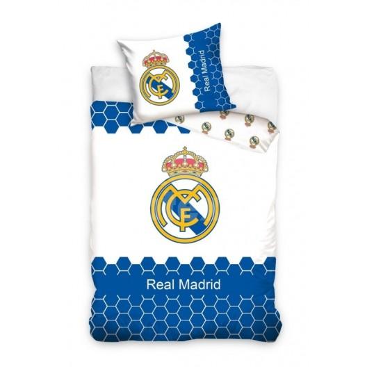 Modro biela detská posteľná obliečka Real Madrid