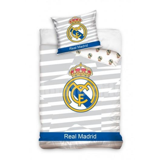 Bielo modrá obliečka s detským motívom FC Real Madrid