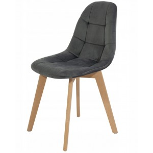 Tmavo sivá moderná stolička s luxusným čalúnením