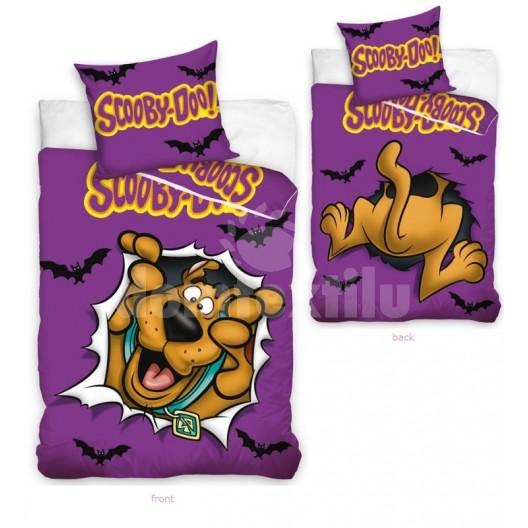Obliečka na detskú posteľ fialovej farby Scoby Doo
