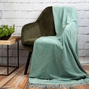 Krásna a hrejivá akrylová deka v módnej mentolovej farbe 130 x 170 cm