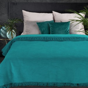 Teplá a príjemná na dotyk akrylová tyrkysová deka