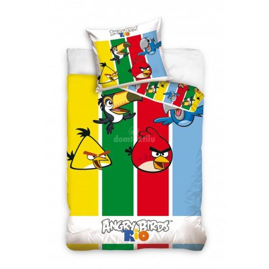 Farebná detská obliečka na posteľ Angry Birds