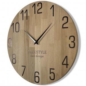 Luxusné drevené hodiny o farbe dub 30 cm