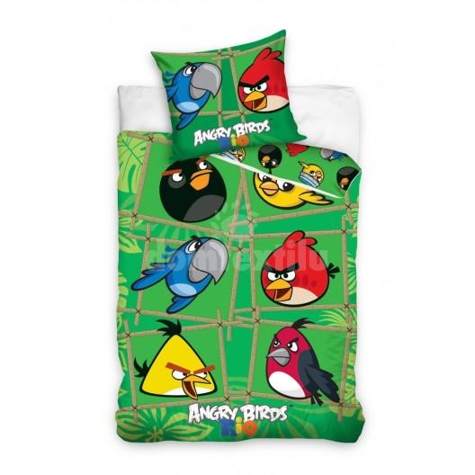Zelená Angry Birds obliečka na detskú posteľ