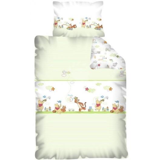 Macko Pu biela detská posteľná obliečka
