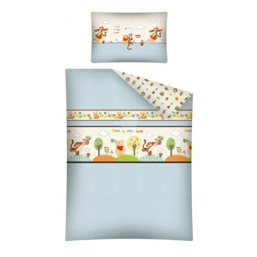Modré macko Pu obliečky na detskú posteľ