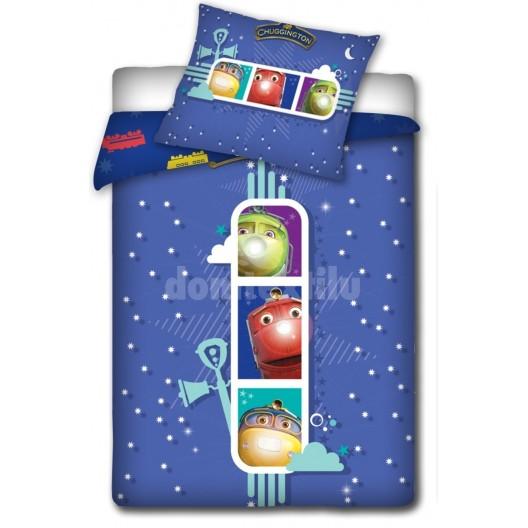 Modrá posteľná obliečka s detským motívom