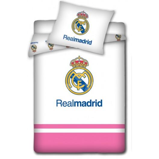 Biele detské posteľné obliečky Real Madrid