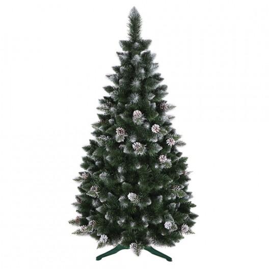 Krásna umelá vianočná borovica so šiškami 180 cm