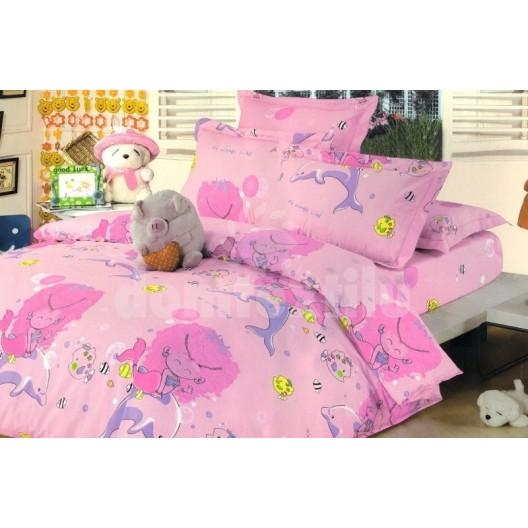 Ružové obliečky na detskú posteľ