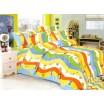 Farebne pruhované detské posteľné obliečky s autíčkami