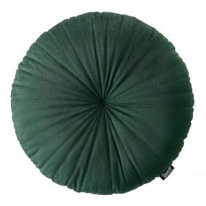 Rustikálny zelený dekoratívny okrúhly vankúš 45 cm