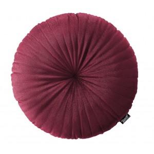 Unikátny krásny bordový zamatový okrúhly vankúš 45 cm