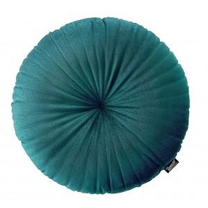 Petrolejovo zelený dekoračný okrúhly vankúš 45 cm