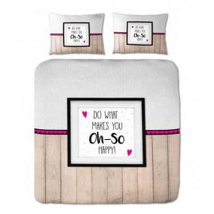 Štýlové posteľné obliečky v módnom designe s nápisom 200 x 220 cm