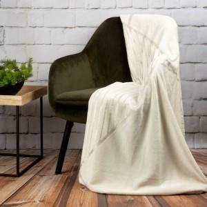 Luxusná krémovo bila deka so strieborným vzorom 150 x 200 cm