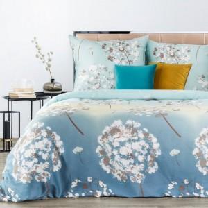 Svetlo modré posteľné obliečky bavlnený satén