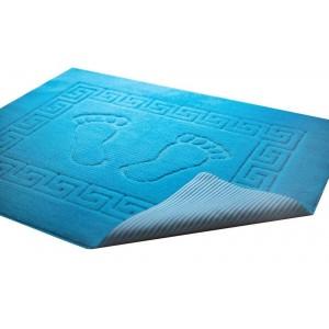 Krásna modrá kúpeľňová predložka 50 x 70 cm SKLADOM