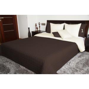 Obojstranná prikrývka na manželskú posteľ hnedej farby 170x210 cm SKLADOM