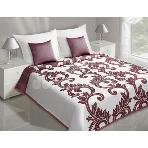 Prehozy na posteľ s bordovým ornamentom