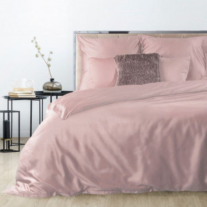 Ružové obojstranné posteľné obliečky so zapínaním na zips