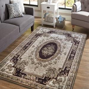 Vintage koberec v krásnej hnedej farbe