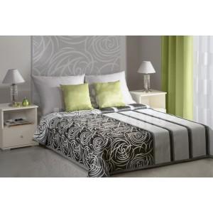 Bielo čierny prehoz na posteľ s rôznymi motívmi