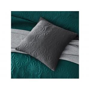 Tmavos sivá dekoratívna obliečka na vankúš 45 x 45 cm