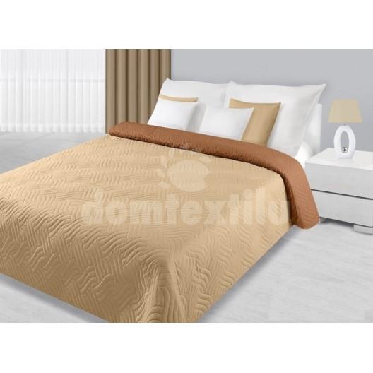 Krémovo béžový prehoz na posteľ