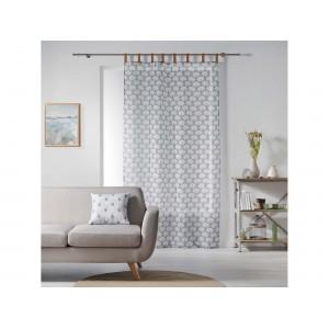 Úchvatná záclona 140 x 240 cm s originálnym zavesením na kožené putka SKLADOM