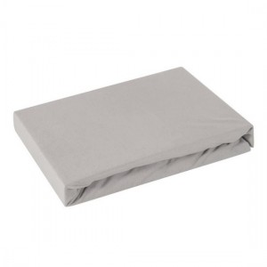 Kvalitná svetlo sivá bavlnená napínacia plachta na posteľ