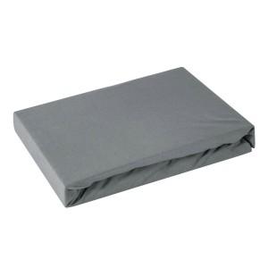 Tmavo sivá napínacia plachta na posteľ z kvalitnej bavlny