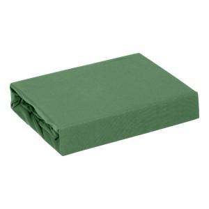 Krásna trávovo zelená bavlnená napínacia plachta s gumičkou