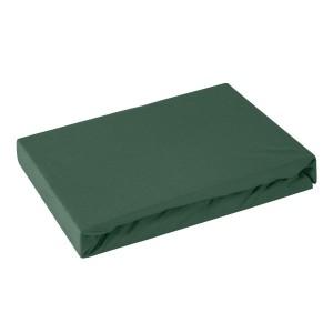 Bavlnená kvalitná tmavo zelená posteľná plachta